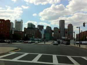 The beautiful Boston downtown