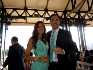 Alex and I at the wedding