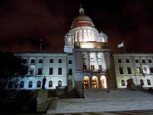 The beautiful Capitol building in Providence