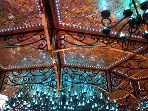 The pretty lights in the main area of the Liberty