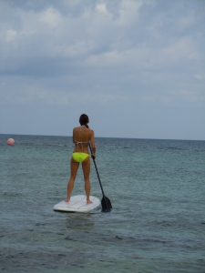 My first paddle-boarding experience!