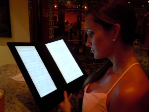 Light up menus at Alchemy
