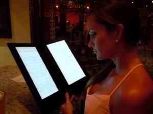 Light up menus at Alchemy