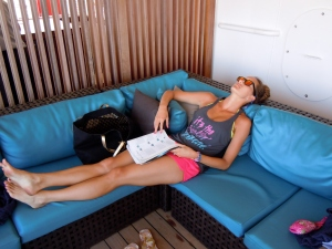Napping at Serenity on the Fun Day at Sea