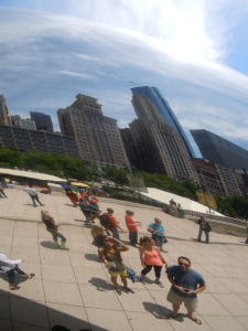 Reflection of the skyline at the Bean
