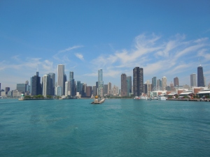 View of the Chicago Skyline from the Lake