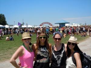 The girls at Bonnaroo