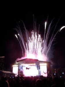 Fireworks at Paul McCartney!