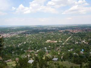 View of Boulder from Flagstaff Mountain