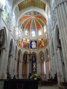 Inside the Catedral Almudena