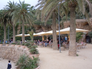 Cafe in Parc Guell