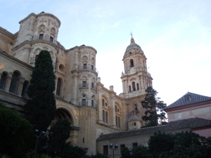 Malaga Cathedral by day
