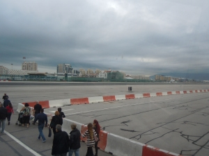 The Gibraltar airport runway