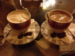 The best hot chocolate ever, with teddy grahams included!