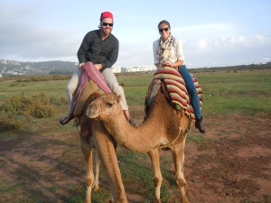 On our camel ride