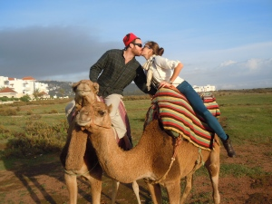The camel kiss! An essential part of the camel ride photoshoot!