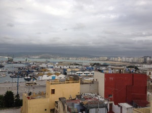 View of the port and the medina