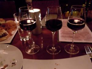My flight of wines from Spain
