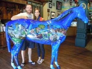 Alex and I at the Lexington Visitors Center