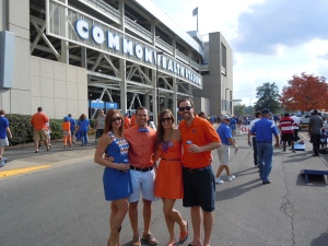 With our wonderful friends, Dennis and Kristy, outside the Kentucky stadium