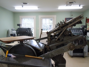 The old-fashioned printing press still used today to print Maker's Mark labels