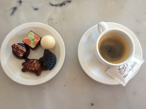 Espresso and fancy chocolates = my heaven