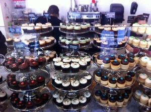 The gorgeous display at Georgetown Cupcake