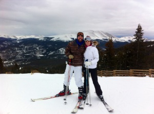 Alex and I skiing on Day 1