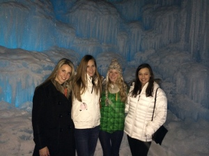 The girls at the Ice Castle