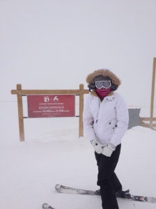 Whiteout at the top of Peak 6