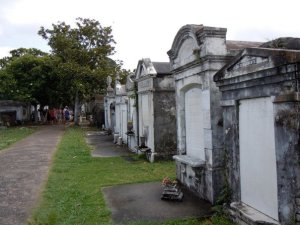One of the many beautiful cemeteries in New Orleans