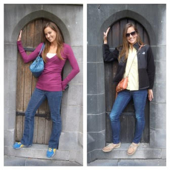 I retook a picture that I took on my first trip to Dublin when I marveled at the tiny doors! Me in Dublin in 2008 and me in Dublin in 2014