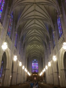 Inside the beautiful Duke Chapel
