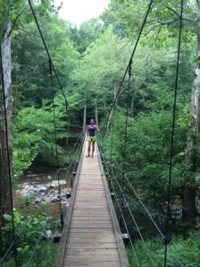 Footbridge in Eno River State Park