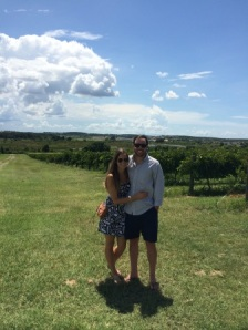 Alex and I at Lakeridge Winery