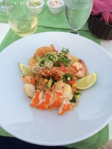 Lobster and shrimp with risotto