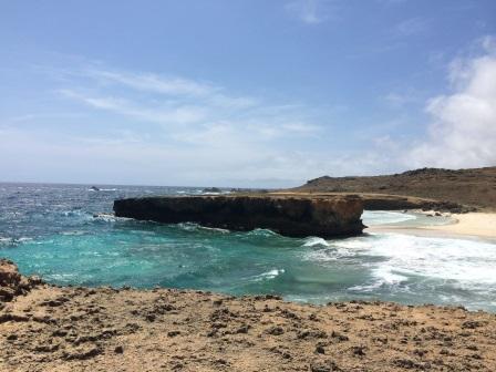 Moro, shaped like the island of Aruba