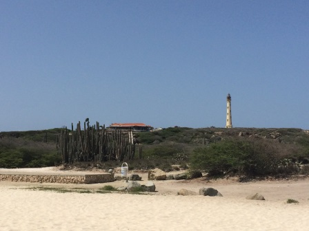 View of the California Lighthouse from Arashi Beach