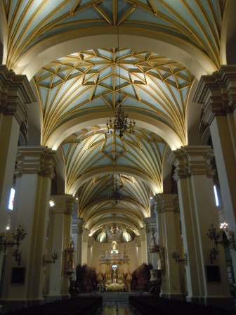Inside the Catedral of Lima