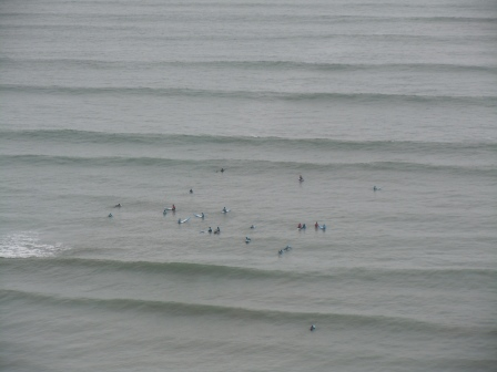 Surfers on the Costa Verde