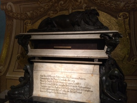 Francisco Pizarro's tomb