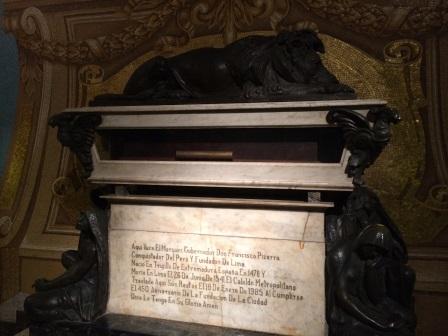 Francisco Pizarro's tomb