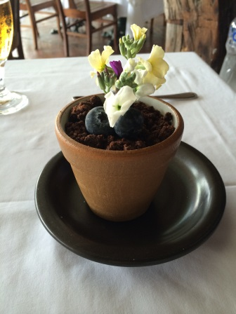 "The ""chocolate pot"" dessert (kind of like a mud pie)"