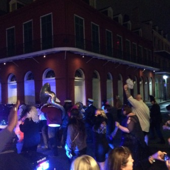 Second Line right outside of Kingfish