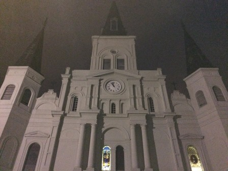 St. Louis Cathedral by night