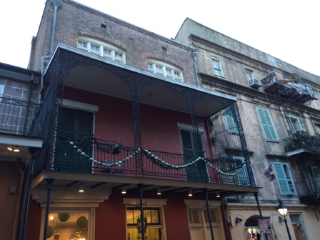 One of the many balconies in the French Quarter