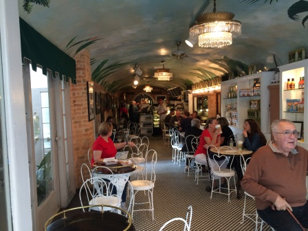 Inside Café Beignet