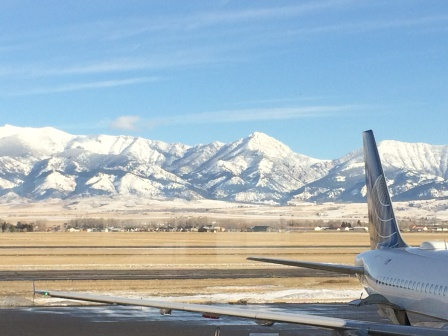 View from the Bozeman Airport