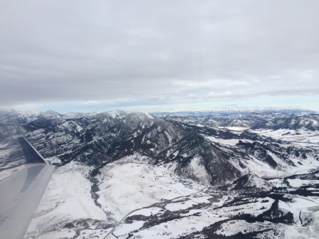 Flying out of Bozeman