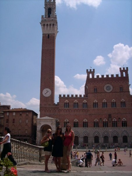 The Piazza in Siena where Il Palio takes place